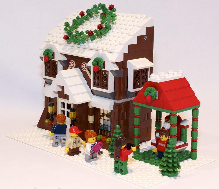 lego christmas house instructions
