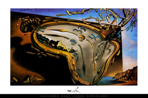 Soft Watch at the Moment of First Explosion, c.1954 Prints by Salvador Dalí - AllPosters.co.uk