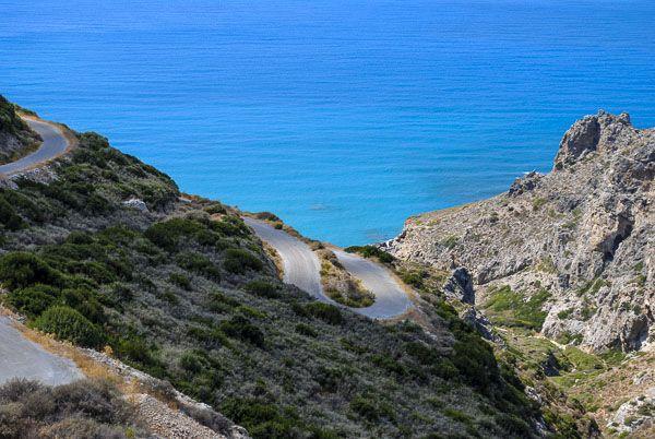 Road to Lykodimou beach Kythira Island
