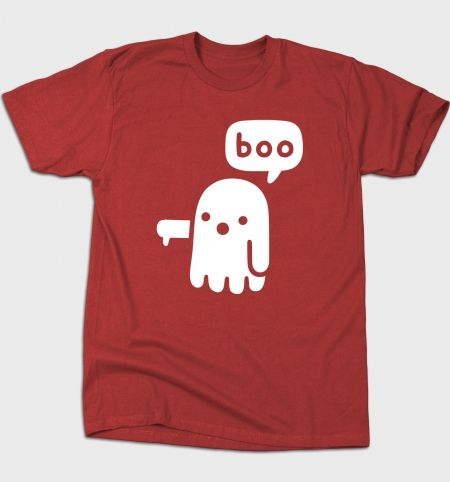Ghost of Disapproval T-Shirt - Boo T-Shirt is $12 today at Busted Tees!