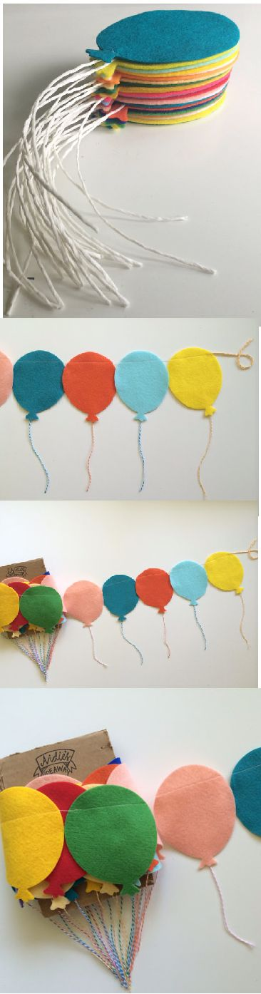 balloon garland.....hot air balloons?