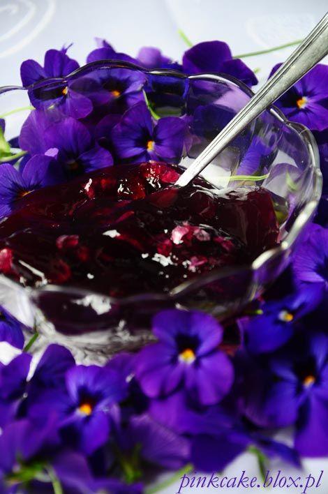 dżem fiołkowy, Konfitura z fiołków wonnych, violets jam, viola jelly, violets confiture, dżem z fiołków, konfitura fiołkowa