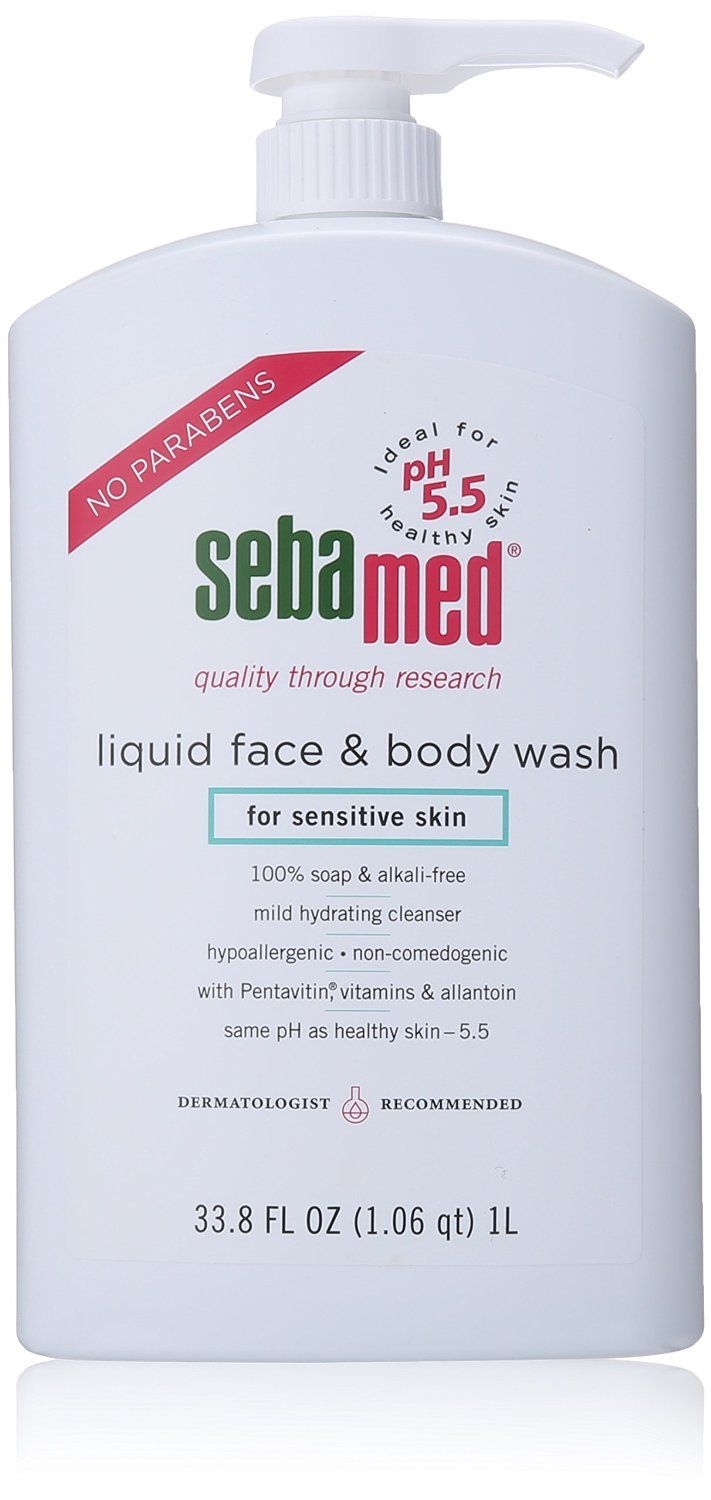 """Sebamed Face and Body Wash, for Sensitive Skin 33.8-Fluid Ounces Bottle All Sebamed products are """"soap free"""" and suitable for individuals even with the most sensitive skin. Sebamed is recommended by  Read more http://cosmeticcastle.net/bath-body-care/sebamed-face-and-body-wash-for-sensitive-skin-33-8-fluid-ounces-bottle  Visit http://cosmeticcastle.net to read cosmetic reviews"""