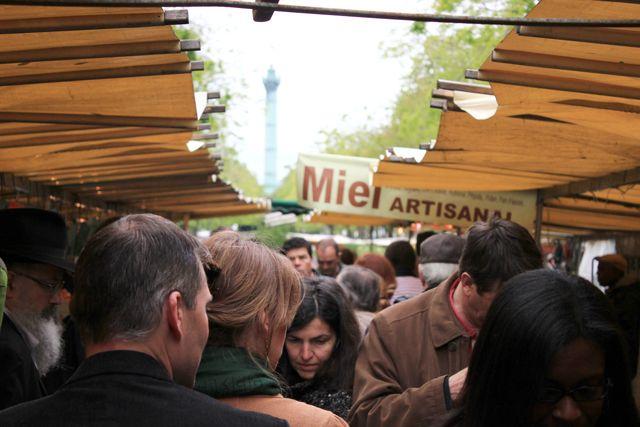 The bustling markets of Paris