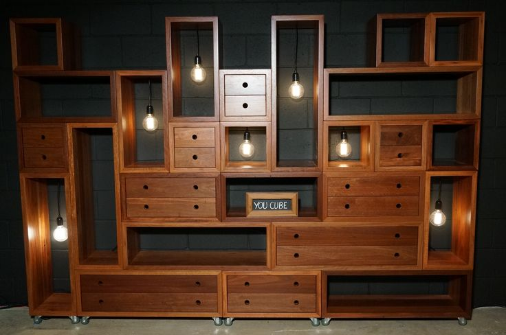 Reclaimed Hardwood cube Furniture. Design your own layouts with this 'You Cube' concept.