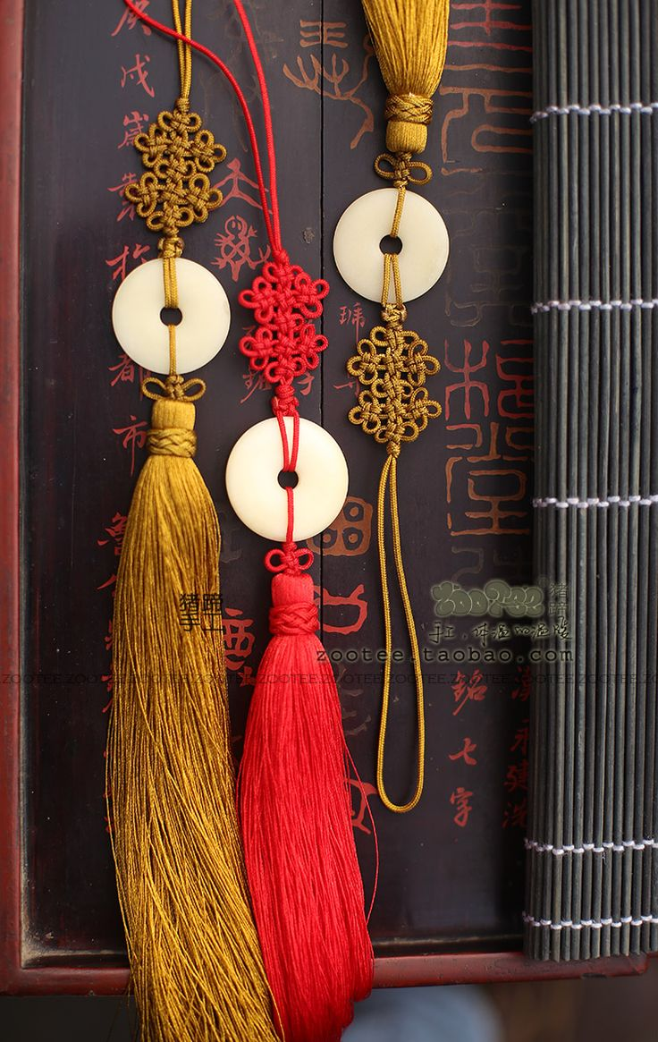 Handmade tassels and Chinese knot                                                                                                                                                                                 More