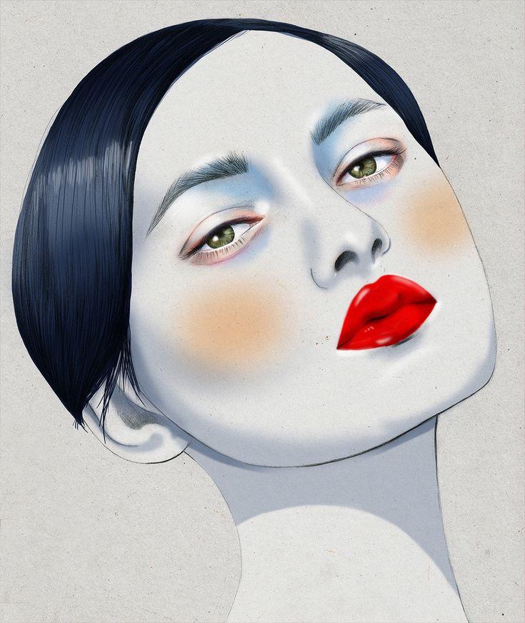 Kelly Thompson beauty illustration Melbourne Laud Magazine