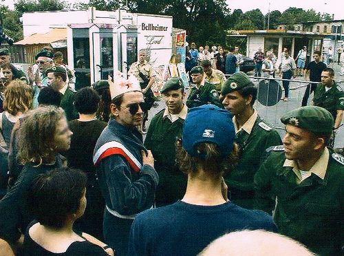 Zittau 1999 Grenzübergang nach Polen geschlossen durch den BGS (Bundespolizei)