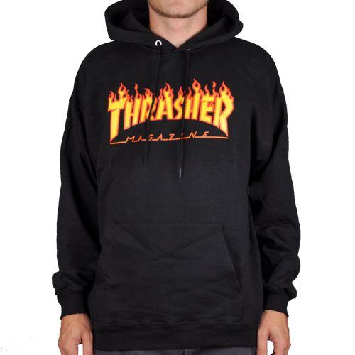 Sudadera THRASHER flame black en 2020 | Sudadera thrasher