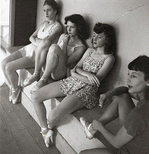 ballerinas on a smoke break, 1941