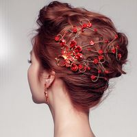 Тиара украшение для волос горный хрусталь свадебные свадьба красный павлин заколки аксессуары расчёска для волос ювелирные изделия HCJ237