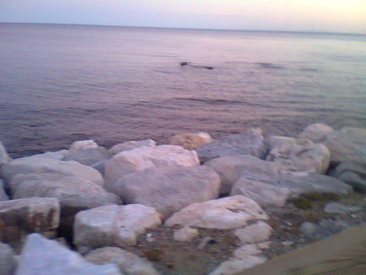 White rocks at sea
