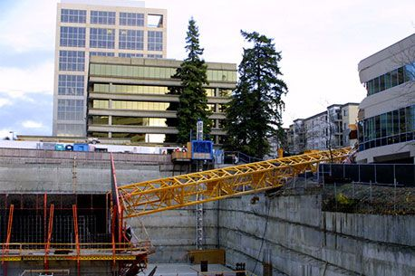 Assurance pro RC, écroulement, accident, grue, chantier, RC Pro Insurance, collapse, crash, crane, construction