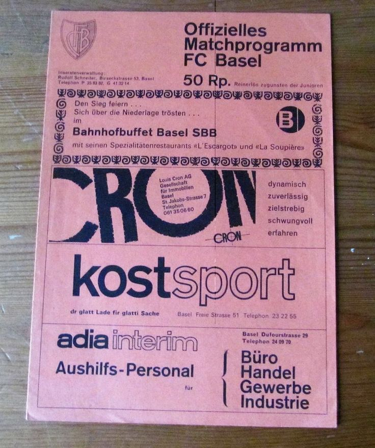 1969/70 European Cup  FC BASEL V CELTIC FC  PROGRAMME 1969  ON ROAD TO FINAL  | eBay