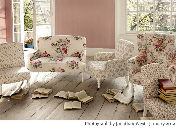 cath kidston printed fabric chairs photographed by jonathan west