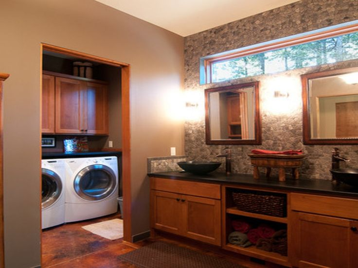 17 best ideas about laundry room layouts on pinterest for Master closet laundry room combo