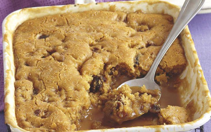 Caramel, Date and Walnut Self-saucing Pudding