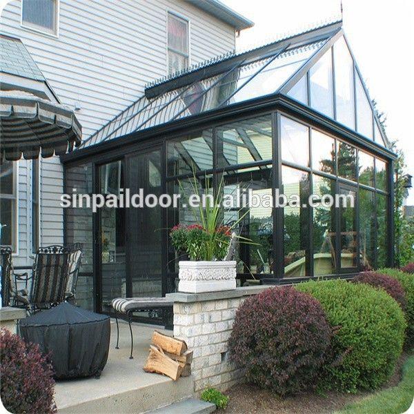 heavy duty slope prefabricated house, glass conservatory