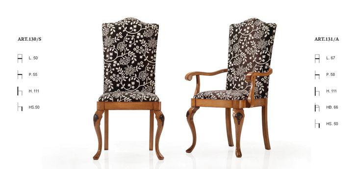 Klasszikus olasz szék 130,131 - www.montegrappamoblili.hu