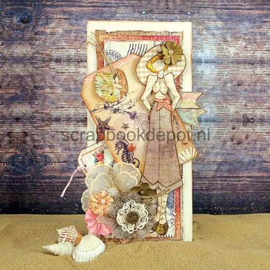 Scrapbookdepot - Julie Nutting Doll Cling Stamp - Gina