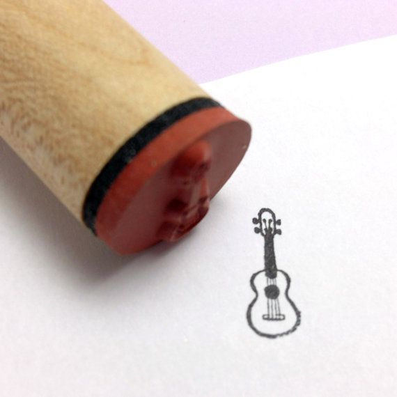 Ukulele Rubber Stamp by RADstamps on Etsy, $3.75