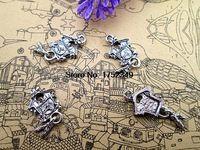 20 шт. старинные серебряные часы с кукушкой подвески стимпанк NF птицы дом - часы с кукушкой 26 мм x 12 мм x 4 мм