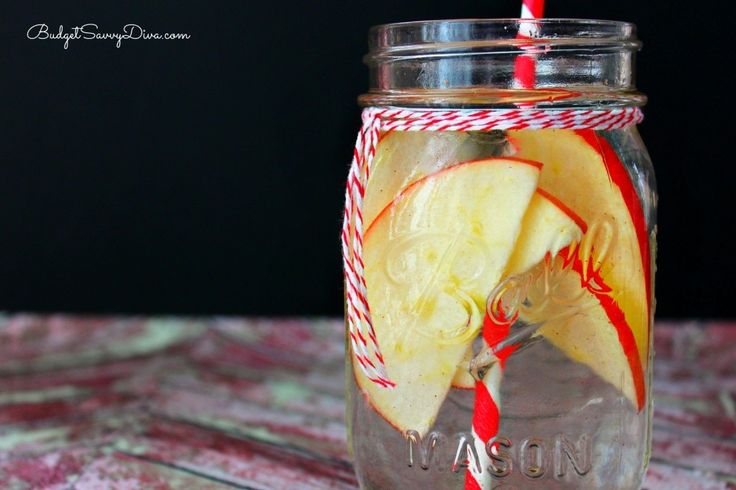 Ароматизированная вода: яблоко и корица