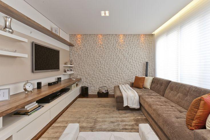 sala de estar com painel para tv - Pesquisa Google                                                                                                                                                     Mais