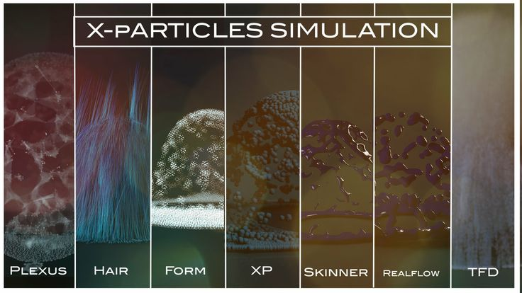 X-Particles Simulation - 7 Renders -