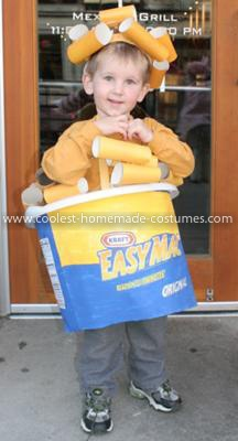 Homemade Easy Mac N Cheese Costume: This is a Homemade Easy Mac N Cheese Costume that I had made. My son loves Macaroni and cheese and I love the convenience of Easy Mac n Cheese! I started