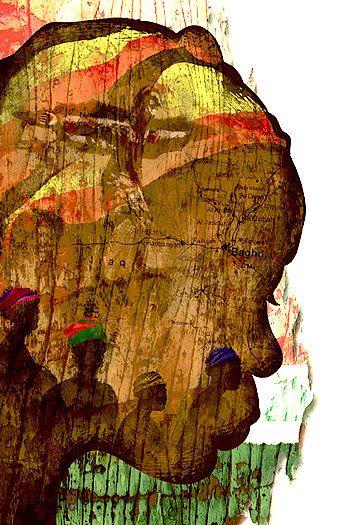 beautiful african art. Such depth . Gorgeous