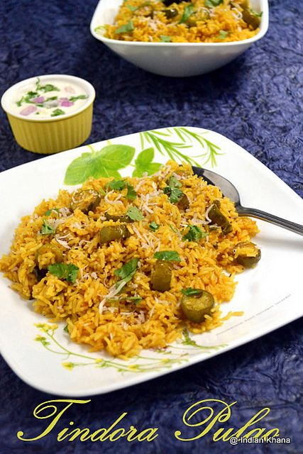 Tindora Pulao | Ivy Gourd Pilaf Recipe ~ Indian Khana
