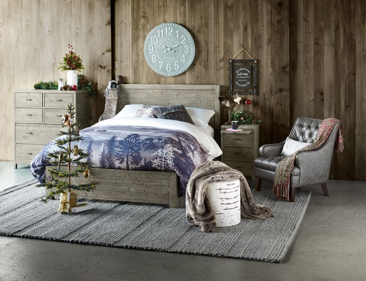 Get cozy this winter and join the slumber party - save 15% all bedroom furniture at your local Urban Barn.    #winter #bedroom #interior #design #MyUrbanBarn