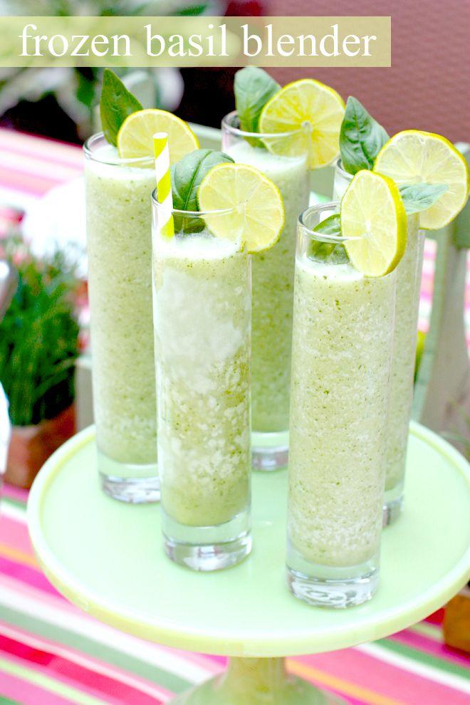 Frozen Basil Blender - the PERFECT refreshing summer cocktail!