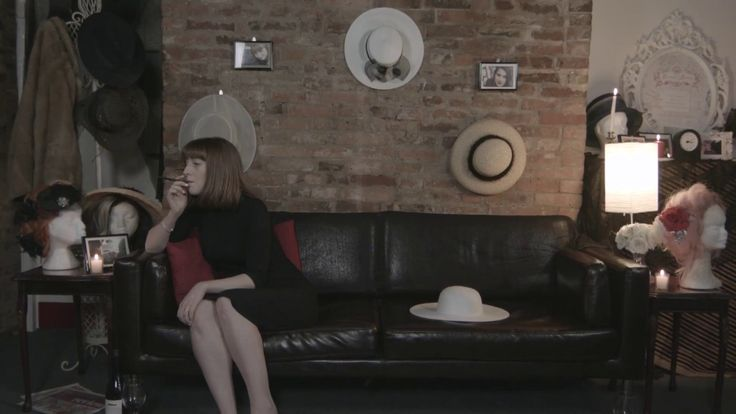 awesome Hats  A lady in a black dress finds comfort in a variety of hats.  Shot on the Blackmagic Cinema Camera 2.5K...