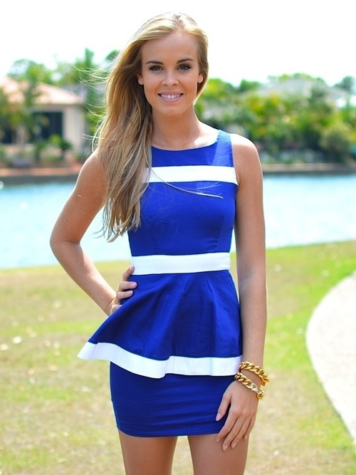 Blue and white #wedding #guest #dress