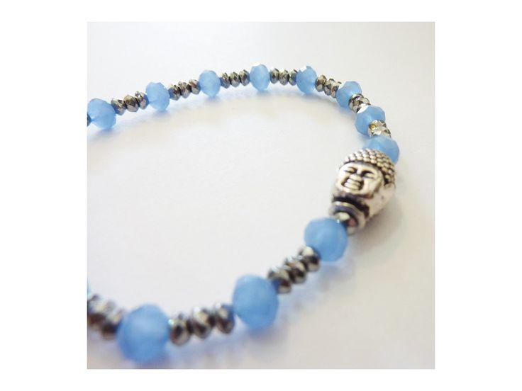 Bracelet Hématite, Cristaux & Bouddha