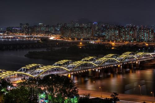 Hangang Bridge from Above