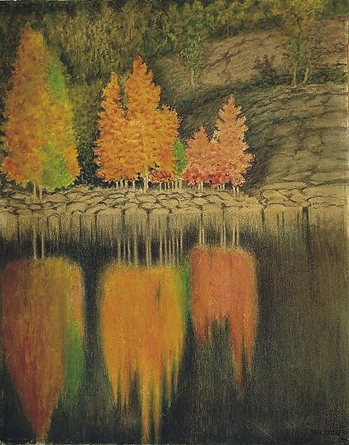Aspen bleeding, 1908,  Theodor Kittelsen.  Norwegian  (1857 – 1914)