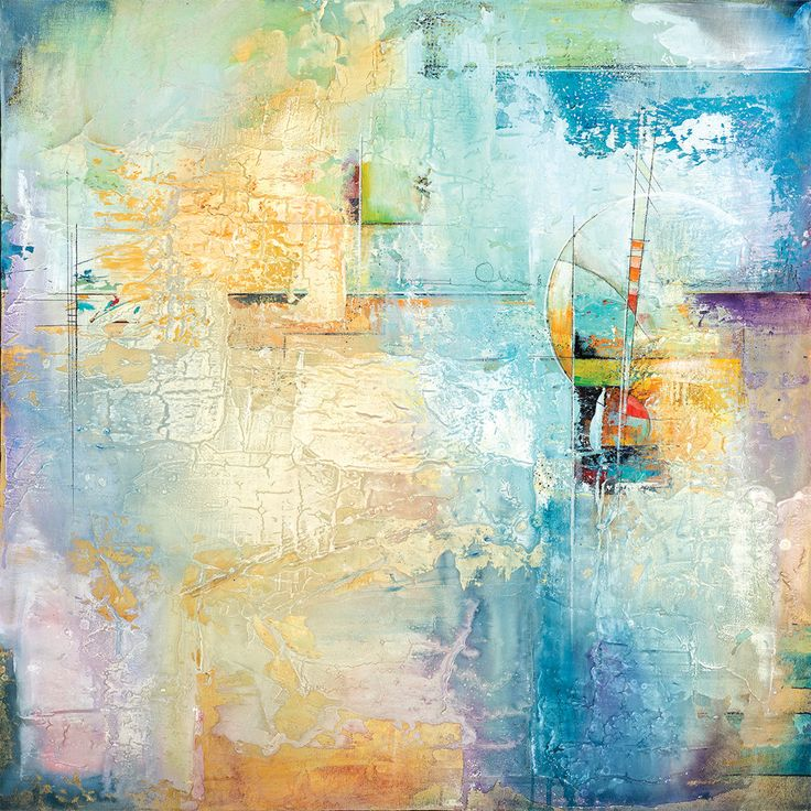 Layered Blue 1 by Karen Hale Painting Print on Wrapped Canvas