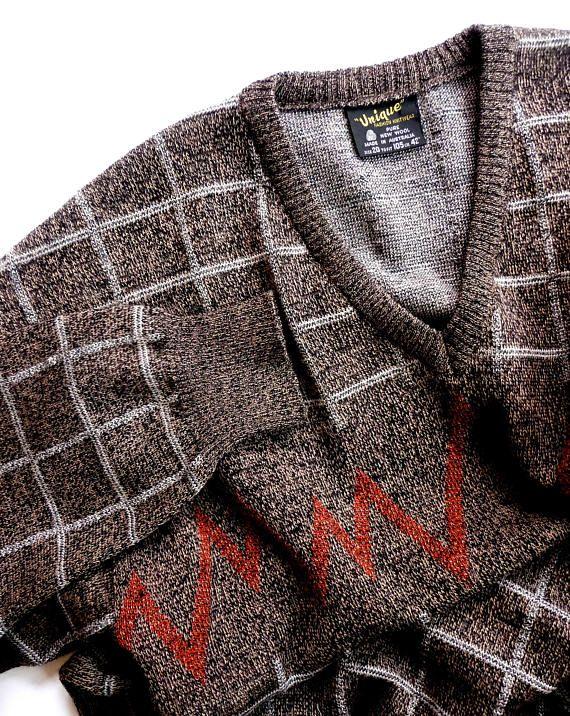 Retro Mens Wool Sweater Pullover Jumper Vintage New