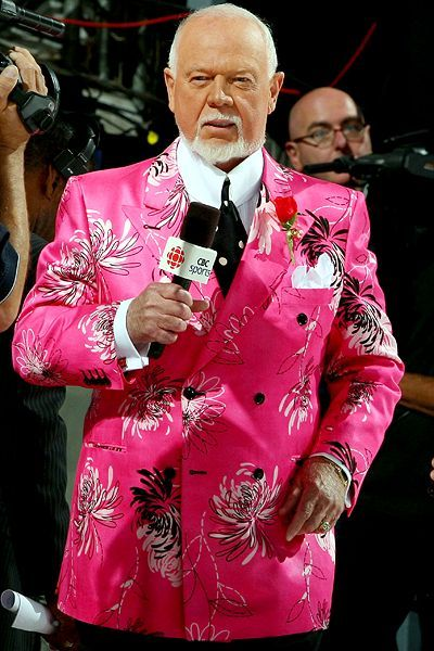 How to wear a pink suit (hint: being Don Cherry helps)  hockey commentator, you got to love him.....or hate him....