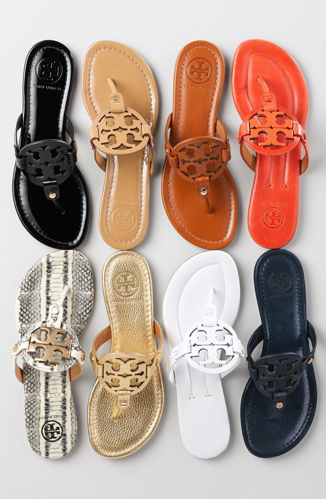 Tory Burch 'Miller' Sandals...the only pair of flats that I LOVE...just don't want to splurge on them....gold or nude....or orange would be fun.  Wish they went on sale!