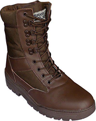 Nuova offerta in #scarpe : Stivali militari da combattimento per cadetti e addetti alla sicurezza con cerniera laterale leggeri in pelle color marrone a soli 38.24 EUR. Affrettati! hai tempo solo fino a 2016-09-30 23:29:00