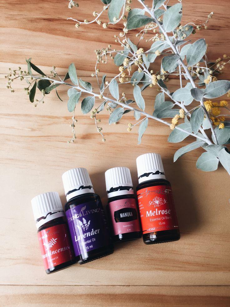Skin loving essential oils Frankincense + Lavender + Manuka + Melrose.