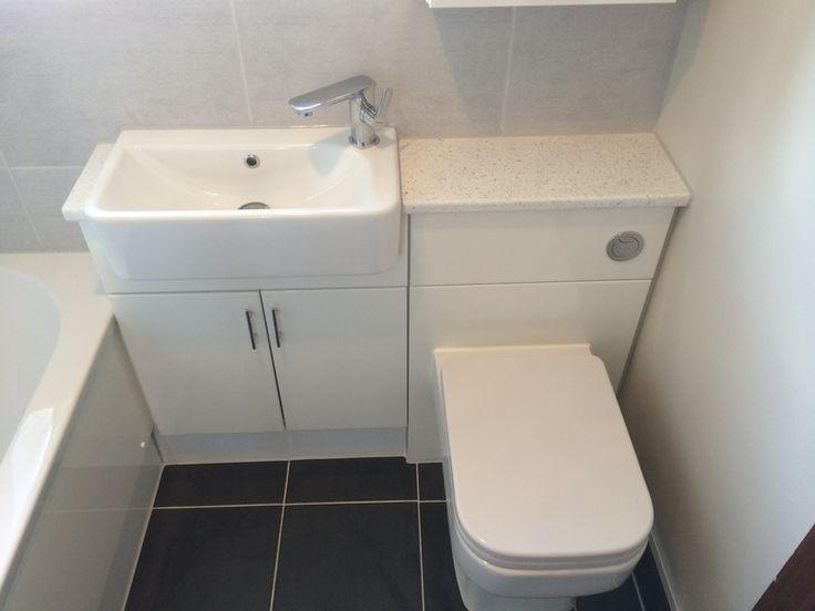 gloss white bathroom furniture #bathroom #furniture #bathrooms uk #modern bathro…