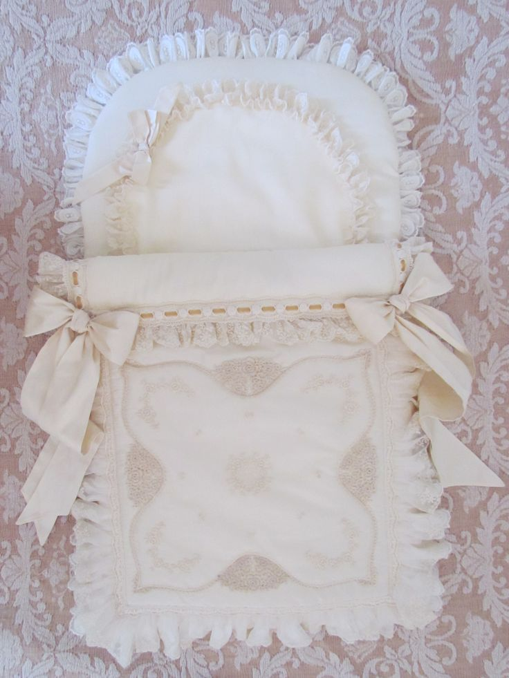 Baby nest with an Austrian lace front panel