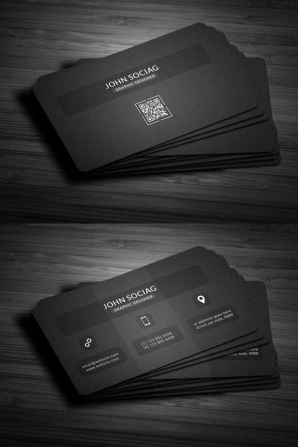 Modern Dark Black Business Cards Create Business Cards Black Business Card Business Cards