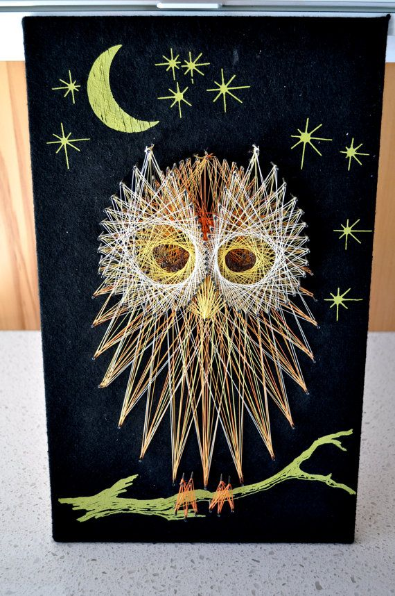 Owl String Art Wall Handing Perfect for