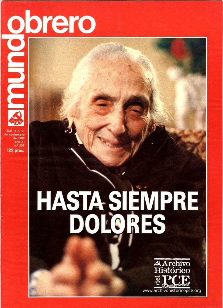 25 años de la muerte de Dolores. La portada de Mundo Obrero de 1989